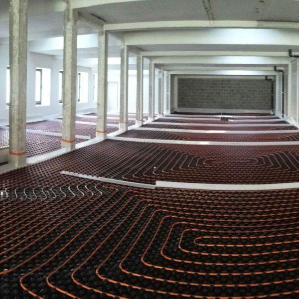 installation de chauffage par le sol